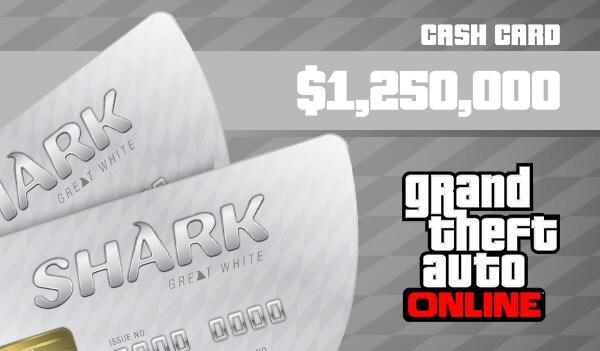 Grand Theft Auto Online: Great White Shark Cash Card 1 250 000 PC Rockstar Key GLOBAL - 3