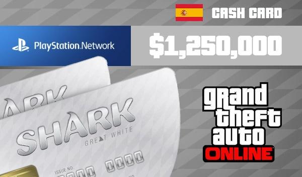 Grand Theft Auto Online: Great White Shark Cash Card 1 250 000 PS4 PSN Key SPAIN - 3