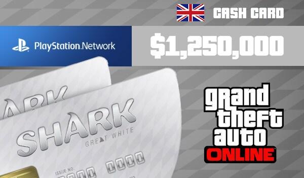Grand Theft Auto Online: Great White Shark Cash Card 1 250 000 PS4 PSN Key UNITED KINGDOM - 3