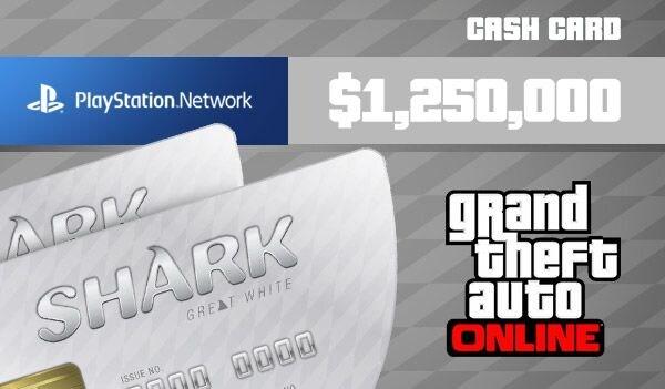 Grand Theft Auto Online: Great White Shark Cash Card 1 250 000 PSN Key GLOBAL - 2