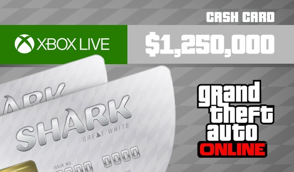 Grand Theft Auto Online: Great White Shark Cash Card 1 250 000 Xbox Live Key GLOBAL - 2