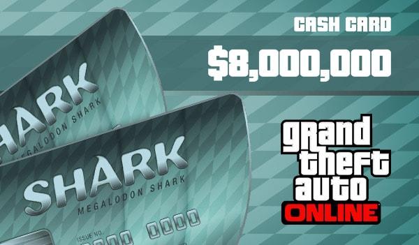 Grand Theft Auto Online: Megalodon Shark Cash Card PC 8 000 000 Rockstar Key GLOBAL - 2