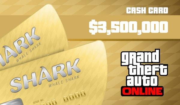 Grand Theft Auto Online: The Whale Shark Cash Card 3 500 000 PS4 PSN Key UNITED KINGDOM - 2
