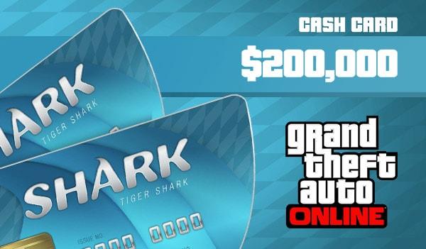 Grand Theft Auto Online: Tiger Shark Cash Card 200 000 PC Rockstar Key GLOBAL - 3