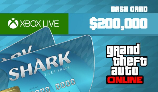 Grand Theft Auto Online: Tiger Shark Cash Card 200 000 Xbox Live Key GLOBAL - 3