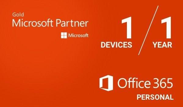 Microsoft Office 365 Personal (PC/Mac) - (1 Device, 1 Year) - Microsoft Key - GLOBAL - 1