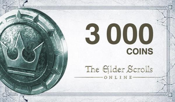The Elder Scrolls Online Crown Pack 3 000 Coins - TESO Key - GLOBAL - 1