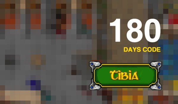 Tibia PACC Premium Time 180 Days Cipsoft Code GLOBAL - 2