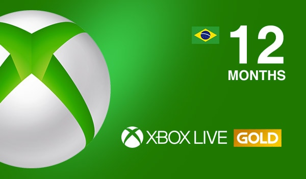 Xbox Live GOLD Subscription Card 12 Months - Key BRAZIL - 2