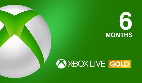 Xbox Live GOLD Subscription Card (PC) - 6 Months Xbox Live - EUROPE - 1