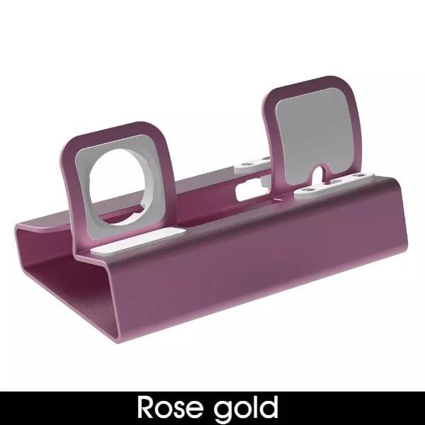 3in 1 Chargin Dock Rose Gold - 2