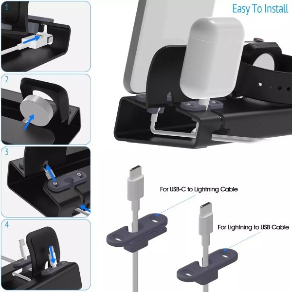 3in 1 Charging Dock Silver - 4