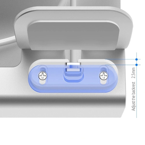 3in 1 Charging Dock Silver - 7