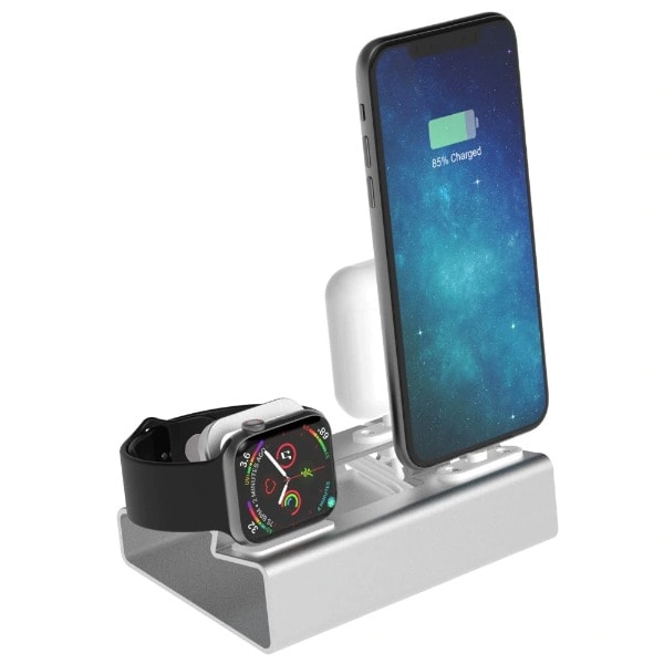3in 1 Charging Dock Silver - 3