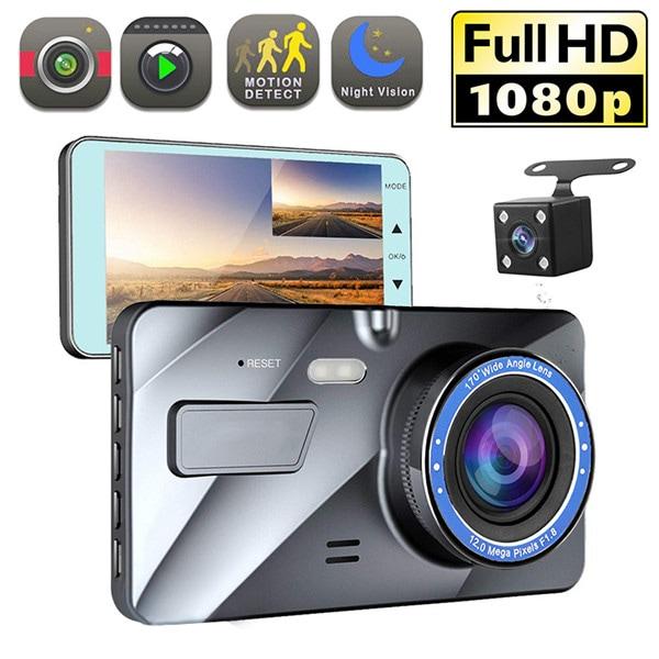 "4"" Vehicle 1080P Car Dashboard DVR Camera Video Recorder G-Sensor Dash Cam - 1"