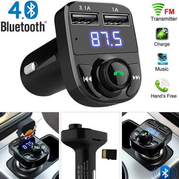 FM Transmitter Aux Modulator Bluetooth Handsfree Car Kit Car Audio MP3 Player with 3.1A Quick Charge - 1