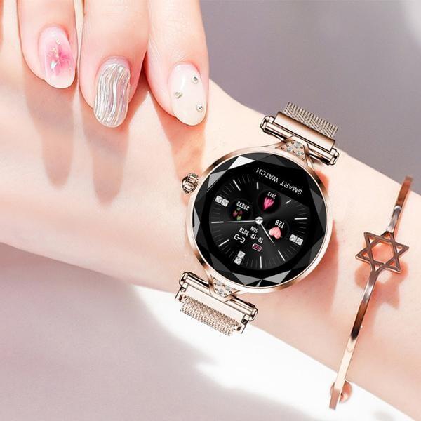 H1 Waterproof Women Lady Fashion Smart Watch Bracelet Sport Fitness Tracker Blue CHINA - 7