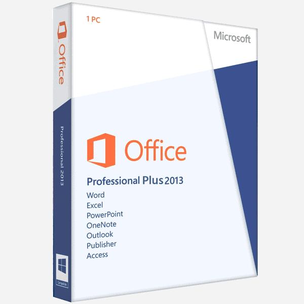 Microsoft Office Professional 2013 Plus (PC) - Microsoft Key - GLOBAL - 1