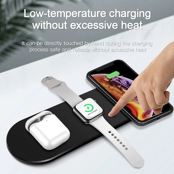 Qi Wireless Charger Stand Black - 1