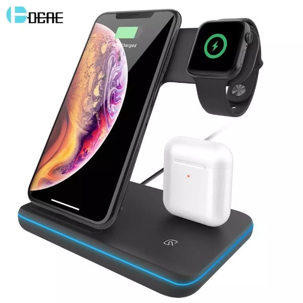Qi Wireless Charger Stand Black - 3