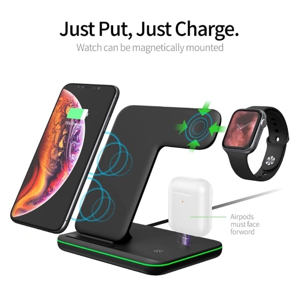 Qi Wireless Charger Stand Black - 4