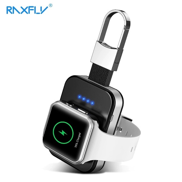 Wireless Charger Power Bank For Apple Watch Black Less than 1000 mAh - 1