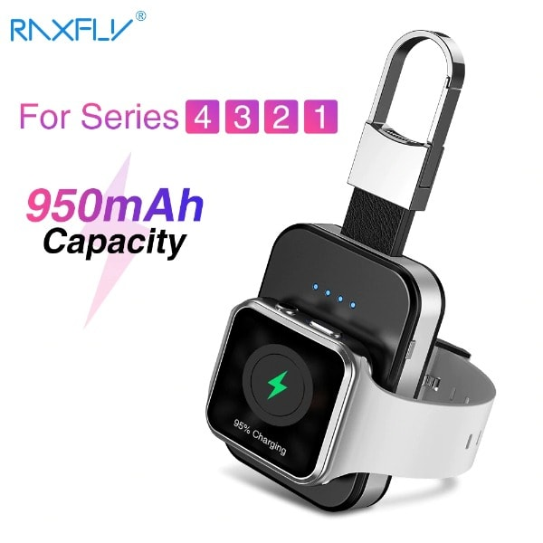 Wireless Charger Power Bank For Apple Watch Black Less than 1000 mAh - 3