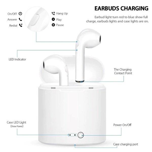 Wireless Headphones White - 6