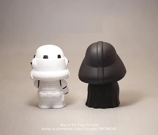 Disney Star Wars 10cm Anime Figure doll Action Force Awakens Black Series Darth Vader toys model For children gift Black - 3