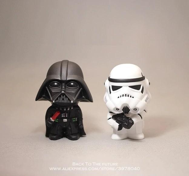 Disney Star Wars 10cm Anime Figure doll Action Force Awakens Black Series Darth Vader toys model For children gift Black - 1