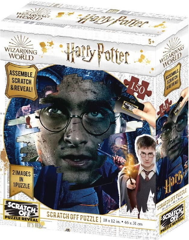 Harry Potter: Magiczne puzzle-zdrapka - Harry (150 elementów) - 1