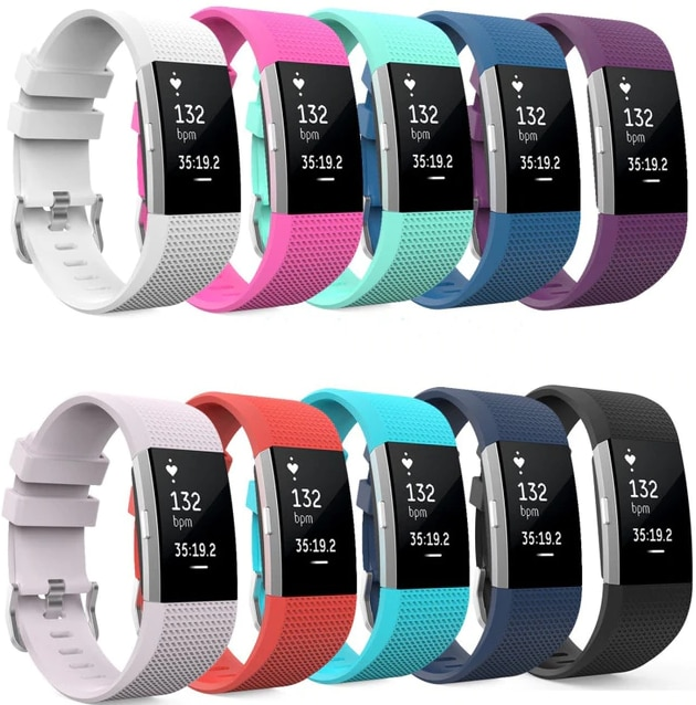 Soft Silicone Wrist Strap Watchband For Fitbit Charge 2 Replacement Watch Band Green - 1