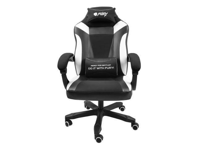 NATEC Fotel dla graczy Fury Avenger M+ Czarno-biały - 2