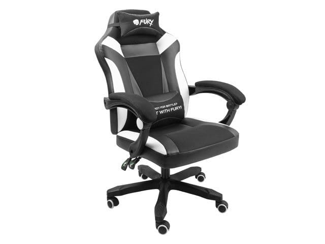 NATEC Fotel dla graczy Fury Avenger M+ Czarno-biały - 4