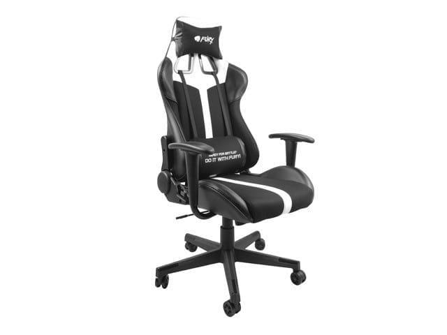 NATEC Fotel dla graczy Fury Avenger XL Czarno-biały - 1