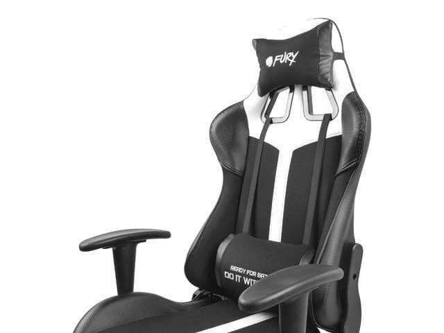 NATEC Fotel dla graczy Fury Avenger XL Czarno-biały - 5