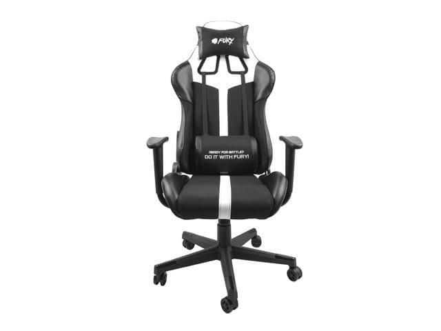 NATEC Fotel dla graczy Fury Avenger XL Czarno-biały - 2