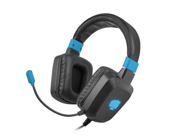 Słuchawki nauszne Fury Raptor z mikrofonem Black - 1