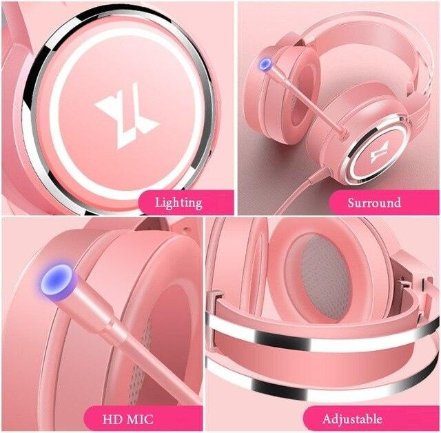 USB Wired Earphone Headset White - 3