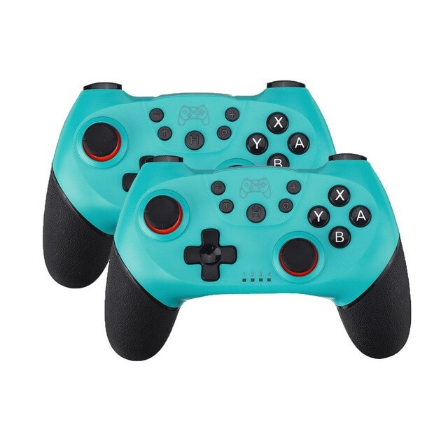 2 Pairs 2020 Bluetooth Pro Gamepad Joystick for Nintendo Switch NS-Switch Pro and NS Mini Blue - 1