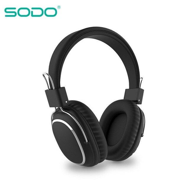 Bluetooth casque sur-oreille filaire sans fil Black - 1
