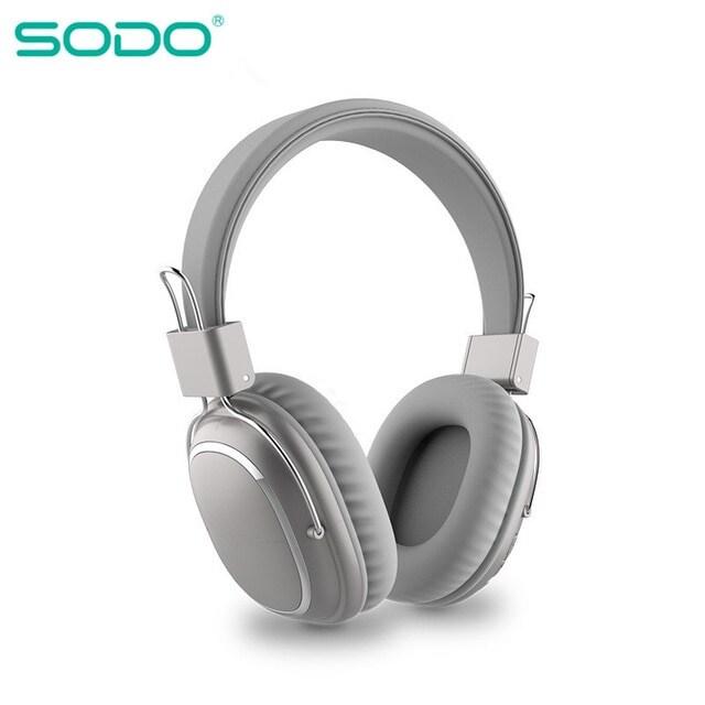 Bluetooth casque sur-oreille filaire sans fil Gray - 1