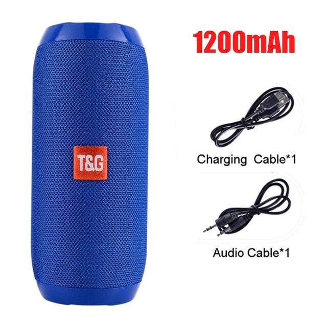 Bluetooth Portable Speaker 3D Stereo Music Surround Soundbar Blue - 1