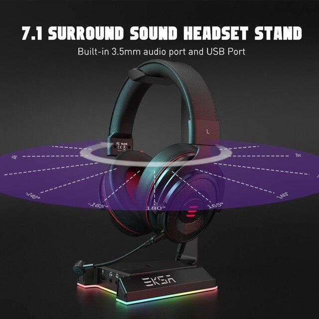 EKSA W1 Gaming Headset stand Black - 2