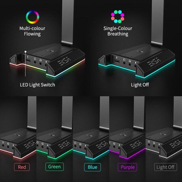 EKSA W1 Gaming Headset stand Black - 3