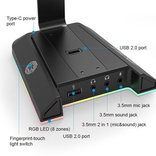 EKSA W1 Gaming Headset stand Black - 4