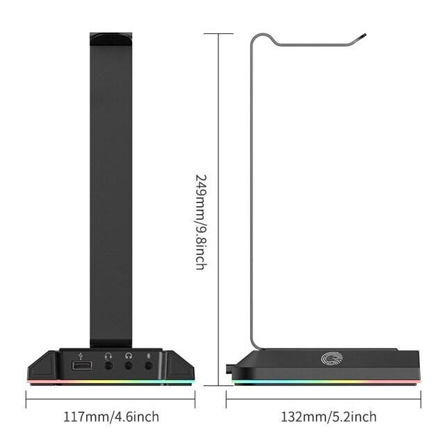 EKSA W1 Gaming Headset stand Black - 5
