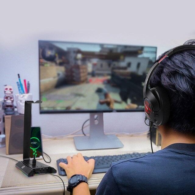 EKSA W1 Gaming Headset stand Black - 6