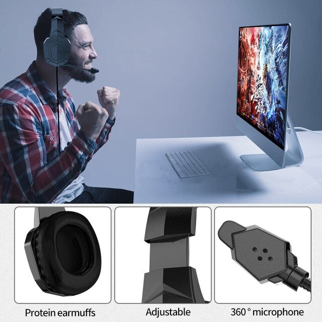 Gamer Headset Professionnel Black - 5