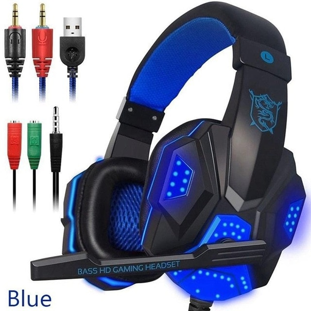 Gaming Headset EastVita PC780 with lighting microphone and bass earphones for PC / PS4 / Xbox - Blue - 1